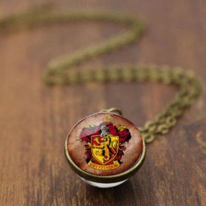 Gryffindor Harry Potter Globe Glass Necklace